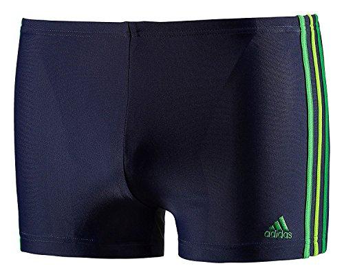adidas Herren Badehose Infinitex 3-Stripes , Navy - Green, 5, G77315