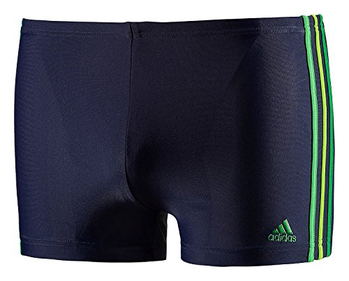 adidas Herren Badehose Infinitex 3-Stripes , Navy - Green, 4, G77315