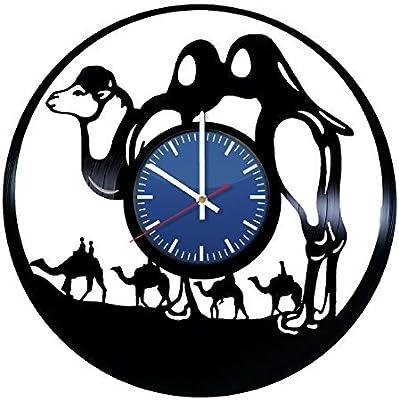 Camel Animal Design Handmade Vinyl Record Wall Clock Fun Gift Vintage Unique Home Decor