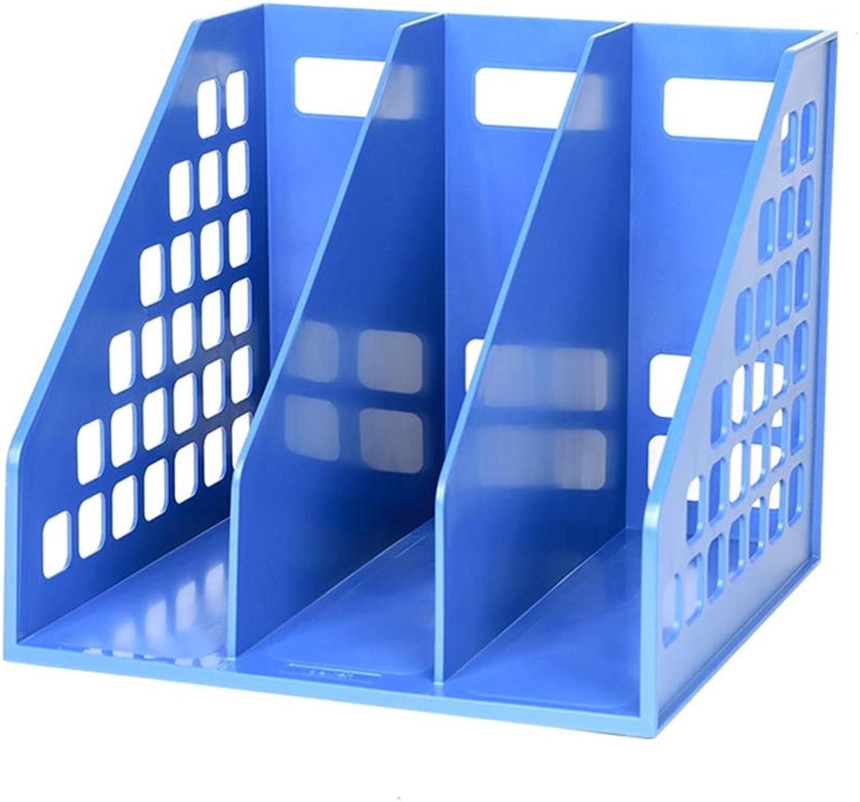 Dateihalter Bürobedarf Kunststoff Kunststoff Kunststoff Datei Aufbewahrungsbox Desktop Ordner Ordnerspeicher Büro Dateikorb Bücherregal (Farbe   Blau) B07MV8PWM7 | Niedrige Kosten  0706e9