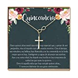 Quinceañera Gift Necklace: Regalos Para Quinceañera, Jewelry, Sweet Fifteen, Infinity Cross (gold-plated-brass, NA)