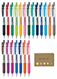 Zebra Sarasa Clip 0.5 Retractable Gel Ink Pen, Rubber Grip, 0.5 mm, 20 Color Ink, Sticky Notes Value Set