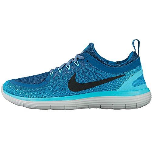 Womens Nike Free RN Distance 2 Running Shoe BLUE LAGOON/BLACK-INDUSTRIAL BLUE 8
