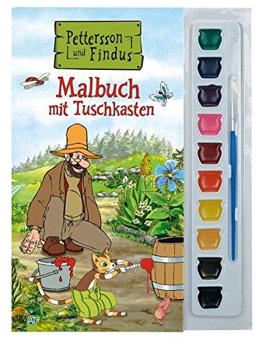 Trötsch Petterson und Findus Malbuch mit Tuschkasten und Pinsel: Beschäftgungsbuch Ausmalbuch (Pettersson und Findus)