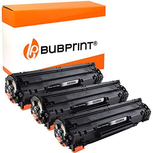 3 Bubprint Toner kompatibel für HP 85A CE285A für LaserJet Pro M1130 M1132 M1136 M1212nf M1217nfw MFP P1002 P1100 P1102 P1102w P1106 P1108 P1109w Schwarz