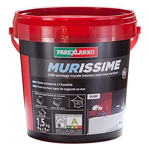 Parexlanko, Murissime, Colle carrelage prête à lemploi murale intérieur pour tous carreaux, 1,5kg
