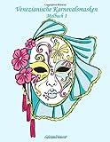 Venezianische Karnevalsmasken Malbuch 1