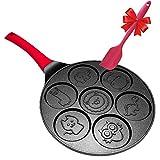 Pancake Pan Molds for Kids Nonstick Pancake Griddle Crepe Maker Pan Animal Shapes - 6 inch...