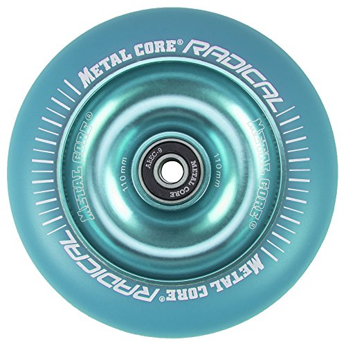 Metal Core Rueda Radical Monocromática para Scooter Freestyle, Diámetro 110 mm (Azul)