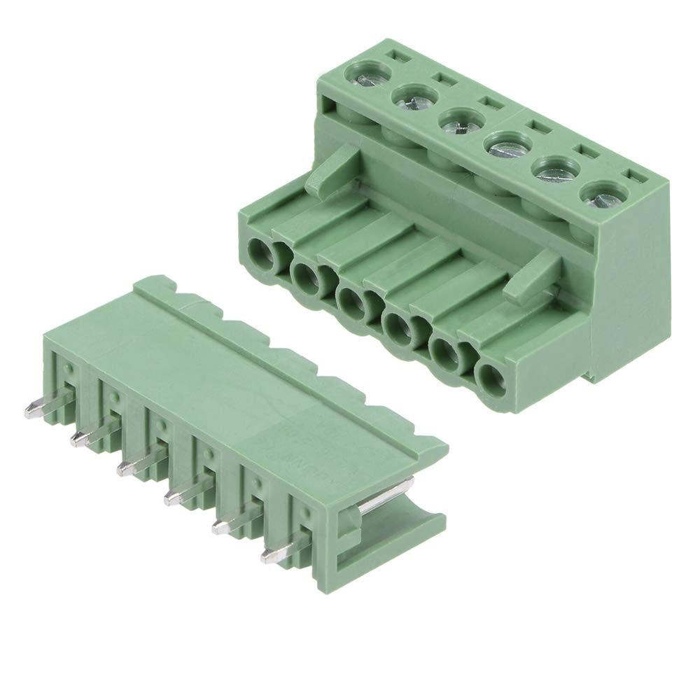 10 Set Special price for a limited time 5.08mm Pitch 6 Omaha Mall Pin Pluggable Connector Block Terminal Mal