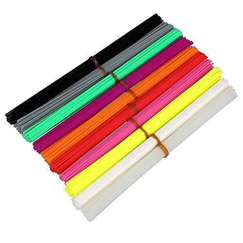 Nachfüllen von Stiftfilamenten PLA 1,75 mm 10 Farbe/Set 3D-Stift Kunststoff Gummi Druck Gerade Material Material 3D-Druck Zubehör