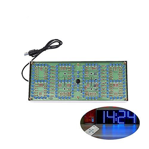 ECL-132 DIY Kit Blau Uhr Bildschirm Display Kits Elektronische Suite Mit Patch Fernbedienung 132 stücke 5mm LEDs Display Uhr