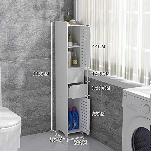 Badablagen & -regaleMOOD.SC Badezimmer Regal Punch Doppeltür Doppel Schublade Wandbehang Boden Waschmaschine Badezimmer Wasserdicht Seitenschrank WC