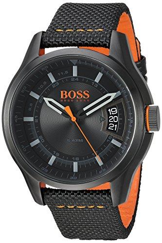 Hugo Boss Orange Hong Kong Herren-Armbanduhr Quartz Analog mit schwarzem Gewebe-Armband 1550003
