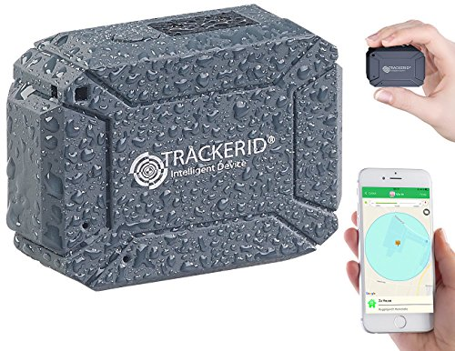 TrackerID GPS Tracker Auto: GPS- & GSM-Tracker, Live-Tracking-App, SOS-Funktion, Geofencing, IP67 (GPS Tracker Live Verfolgen)