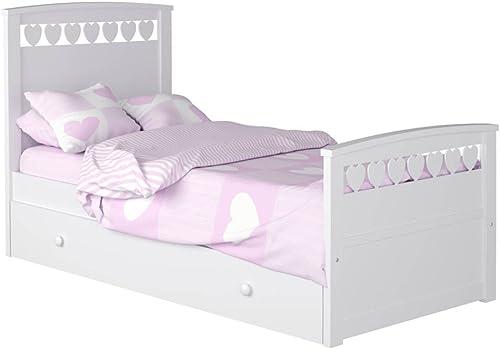 ATLAMP Kinderbett Herz MIT Nest Colchón 90 x 190 Weiß