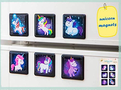 MORCART Einhorn Kühlschrank Magnete Set Kühlschrankmagnete Lustige Dekorative Fridge Magnets Nette Küche Eisen Schließfächer Büro etc Zubehör Geeignet für Kleinkinder und Erwachsene