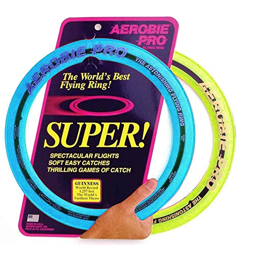 Aerobie Sprint Flying Ring 13quot Diameter Assorted Colors Set of 2
