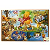 Winnie The Pooh Christmas Large Jigsaw Puzzles For Adults 1000 Piece Open-Air Cafe Jigsaw Puzzles For Kids | Scenery Theme Puzzles Educational Game Toys Gift Ideal for Christmas Birthday