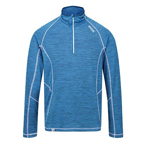 T-Shirt//Polo//Vest Donna Regatta Womens Yonder Quick Dry Grid Fabric Performance Wicking Zip Neck Fleece