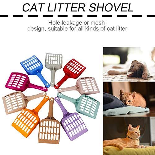 ukYukiko Katzenstreu Schaufel Haustier Reinigungswerkzeug Kunststoff Schaufel Katze Sand Reinigungsmittel