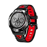 Meles Bluetooth Smart Watch Fitness Tracker Blood Pressure Wristwatch Sports Smartwatch for Android & iOS Smart Phone(Red)