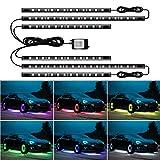 JoaSinc RGB LED Sous la Voiture Lumière Bande, Lumières de Bande de Voiture de Bluetooth LED, Lumières LED Underglow De Voiture, Contrôle de l'application 12V 300LEDs Lumière de Châssis de Voiture