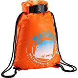 WaterSeals Locking Cinch Drawstring Backpack Women & Men Anti-Theft Combination Ripstop Waterproof Material to...