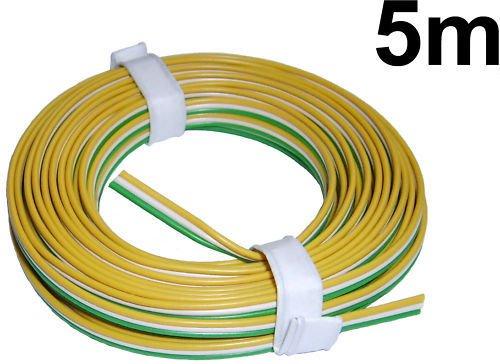 beli beco L318/50/42 Kupferdraht, 3-adrig, 3 Trix-Farben: Gelb-Weiß-Grün, Ringe 50 m, Mehrfarbig