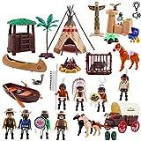deAO Juego del Lejano Oeste Conjunto de Vaqueros y Nativos Americanos Figuras de Acción...