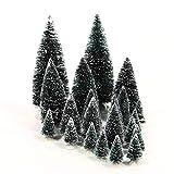 Lemax - Sapins assortis - Accessoires pour village miniature