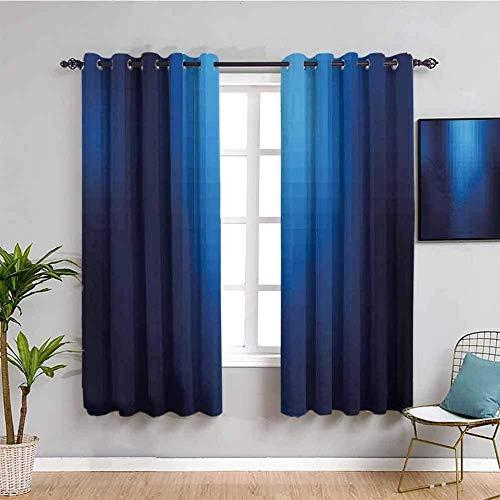 ZLYYH Cortinas Enrollables Azul degradado simple elegante 132x214cm Dormitorio 3D Habitación Infantil Cortinas Habitación Infantil Dormitorio Cortina 3D Digital Impresión Cortinas Opacas 100%