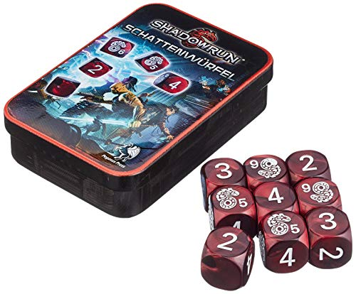 Pegasus Spiele 134101 - Würfelset, Shadowrun, neue Version, rot