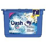 Dash 2en1 - Perles - Lessive Capsules Fleurs de Lotus & Lys - 19 Lavages - Lot de 2
