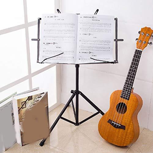 Gwendoll Instrumento Musical del Tenedor del Soporte del trípode del Soporte de la música del pequeño Soporte Plegable Profesional para Las Posiciones Que se sientan o se colocan