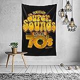 K Billy's Er Sounds of The 70s Pullover Hoodie Tapiz de pared Álbum de tapiz 3D Arte para colgar en la pared Decoración del hogar Tapices ondulados