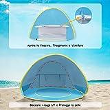 HUSAN Tenda da Spiaggia per Bambini pop-up Tenda da Viaggio UPF 50+Portatile Leggera per Bambini con mini Piscina per Gite Picnic allaperto Viaggi Giardino