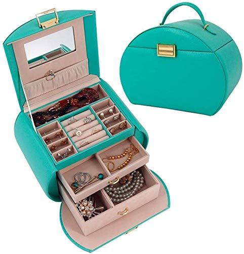 Regalo para mujer Jewelry Boxes Caja de joyería portátil Bolsa de almacenamiento de cuero para joyería Tres colores Caja de almacenamiento versátil de...