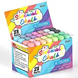 Sidewalk Chalk, 14 Colors 28 Pack Kids Sidewalk Chalk Bulk Set For Toddlers By...