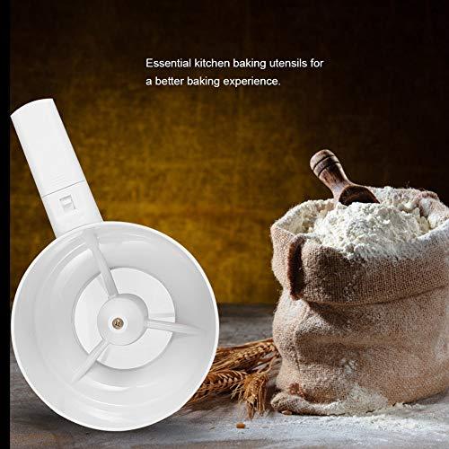 TOPINCN小麦粉ふるい電動ハンドヘルド小麦粉ストレーナーキッチンクッキングベーキングペストリーツール