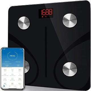 LIBWX Báscula Corporal Báscula Bluetooth Báscula de Peso Medición doméstica Báscula electrónica BMI Inteligente Báscula de Grasa Corporal Báscula de baño