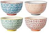Bloomingville Schalen Carla, rot grün blau orange, Keramik, 4er Set
