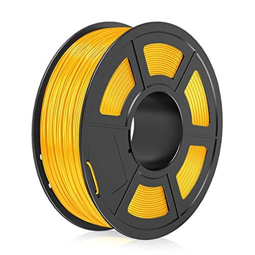 3D Printer PLA Filament 1.75mm,3D Warhorse PLA Filament fit for most FDM 3D Printer/3D Pen,Dimensional Accuracy +/- 0.02 mm,1KG(Spool),Gold PLA Filament