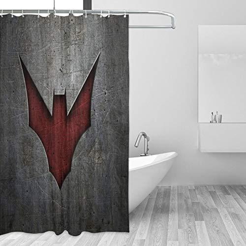 Why So Serious Joker Batman Duschvorhang Effizient Wasserdicht Verdickt Schnell Trocknend Badezimmer Dekorativ Mit Edelstahl Haken (167,6 x 182,9 cm)