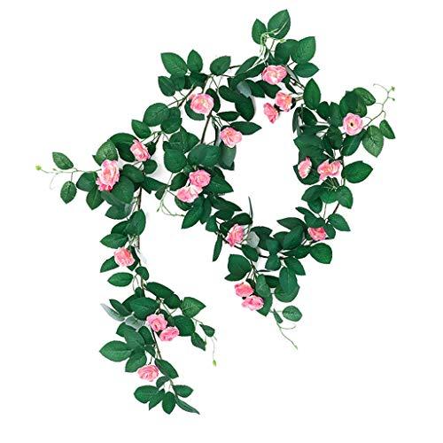 ZRL Ramos de Flores Decoración Floral Guirnalda Floral vegetación para la decoración Mesa Boda con vides abundantes Planta Flor Artificial (Color : B)