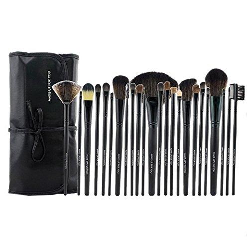 PREMEWISH Pinceaux Maquillage Cosmétique Professionnel Ensemble de 24PCS Set/Kit Cosmétique Brush Beauté Maquillage Brosse Makeup Brushes Cosmétique Avec Sac(Noir)