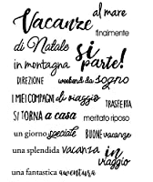 Italian Words Transparent Clear Silicone Stamp/seal for DIY Scrapbooking/photo Album Decorative Clear Stamp Sheets ST0172