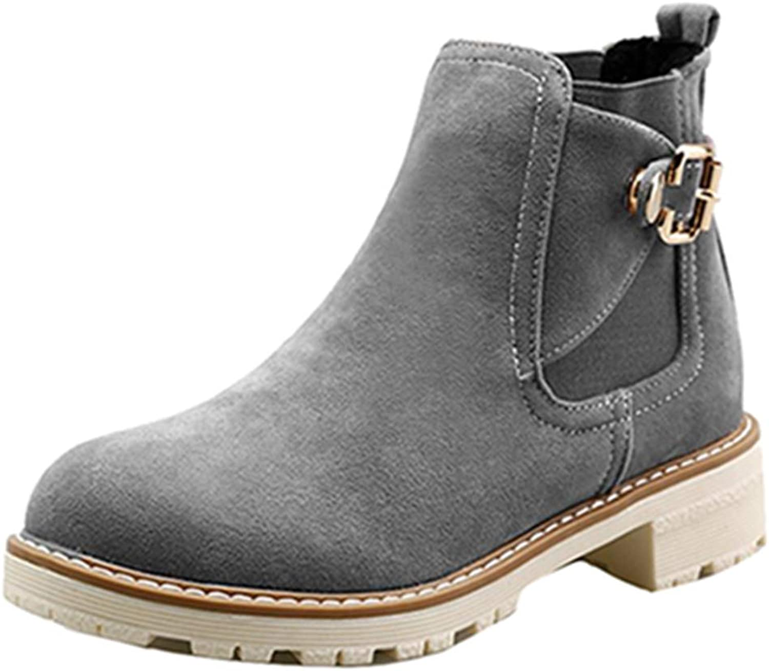 SJJH Women Casual Martin Ankle Boots