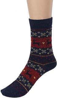 DEELIN Sale Christmas Socks Womens Cute Christmas Deer Design Elk Casual Knit Wool Socks Warm Winter Thermal Socks Mens No...