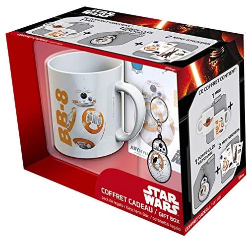 ABYstyle ABYPCK076 Juego de Tronos Star Wars Caja de Regalo Taza con Llavero y Adhesivo BB8 para Adultos